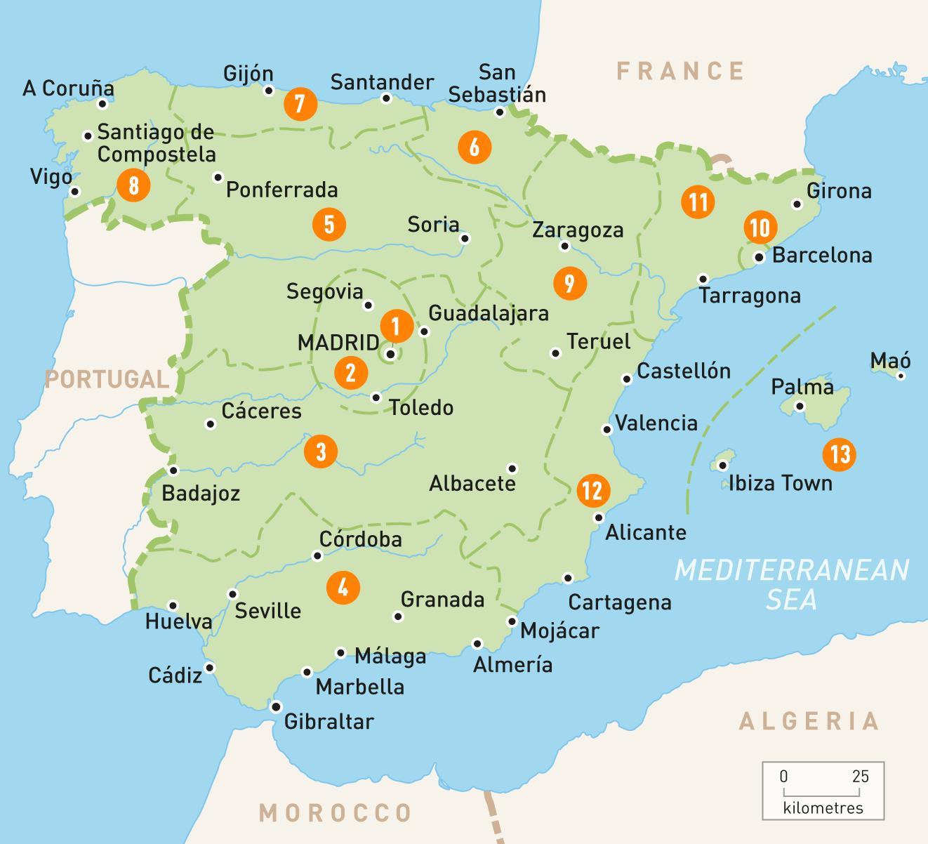 Madrid Terulet Terkep Terkep Madrid Terulet Spanyolorszag