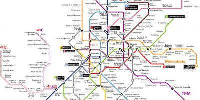 Madrid Belváros Térkép